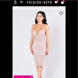 Holographic Fashion Nova Backless Design Dress